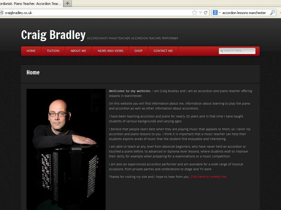 Homepage image from www.craigbradley.co.uk