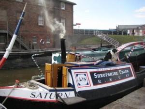 Canal boat at Sea Shanty Festival