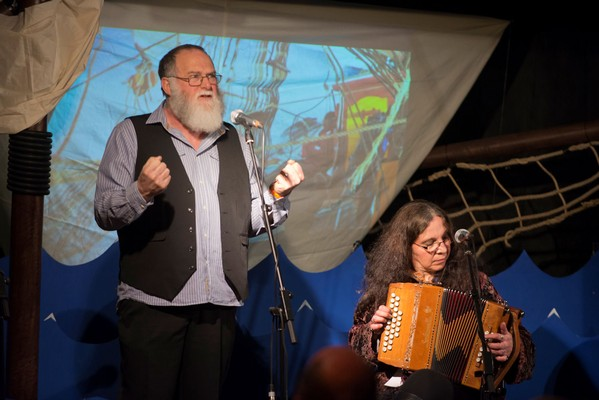 Singing at the Easter Sea Shanty Festival